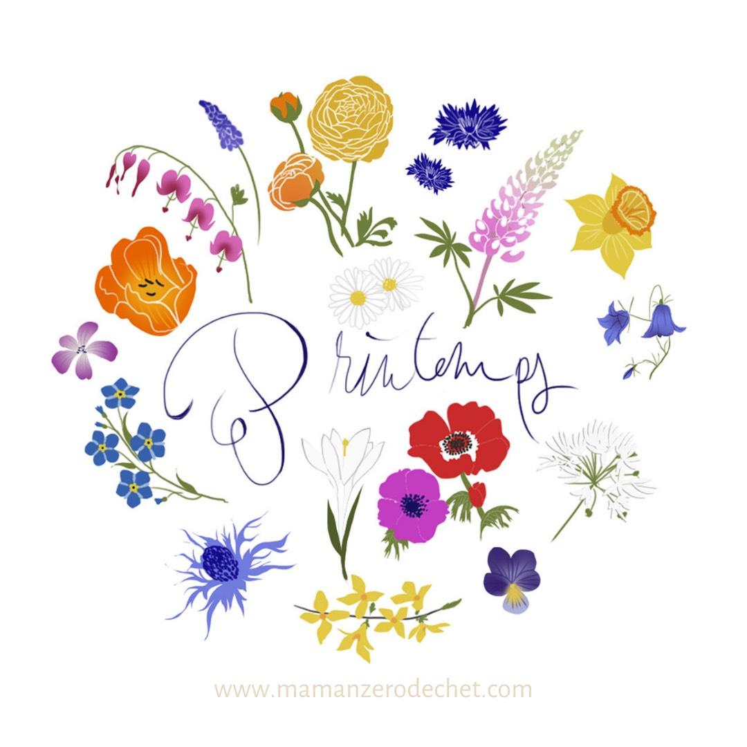 calendrier fleurs de printemps