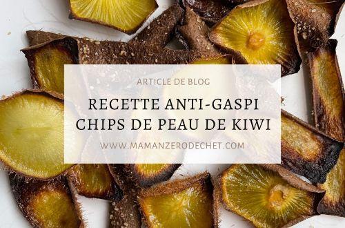 recette anti gaspi chips de peau de kiwi