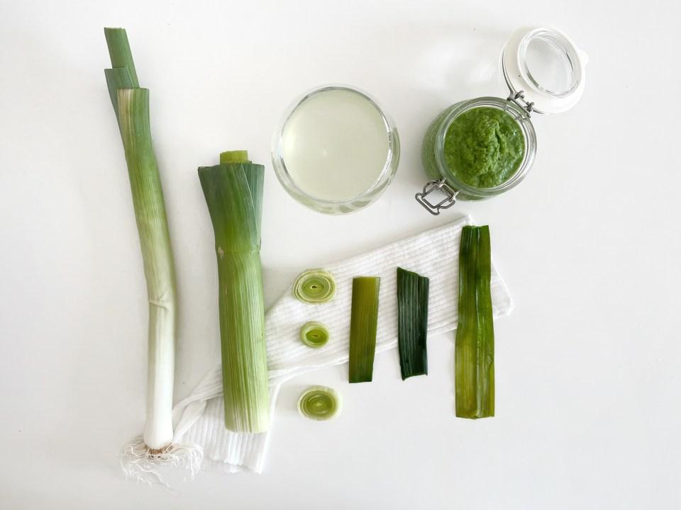 remèdes naturels au vert de poireau