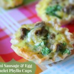 Mini Sausage Egg Omelet Phyllo Cups