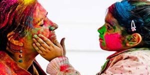 remove holi color from face
