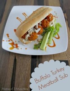 Buffalo Turkey Meatball Sub