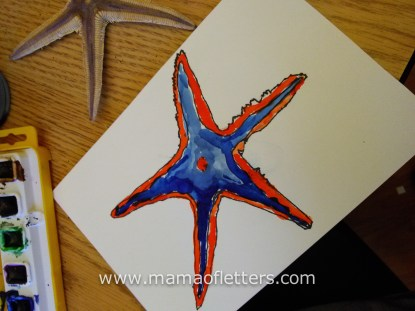 8yo's completed starfish.