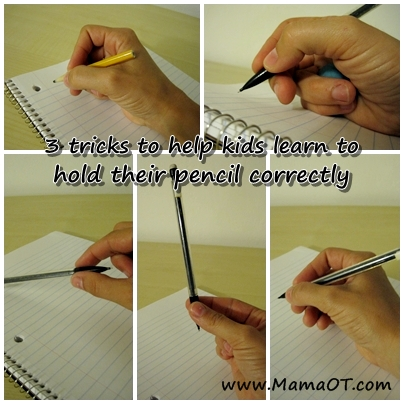 how to hold a pencil