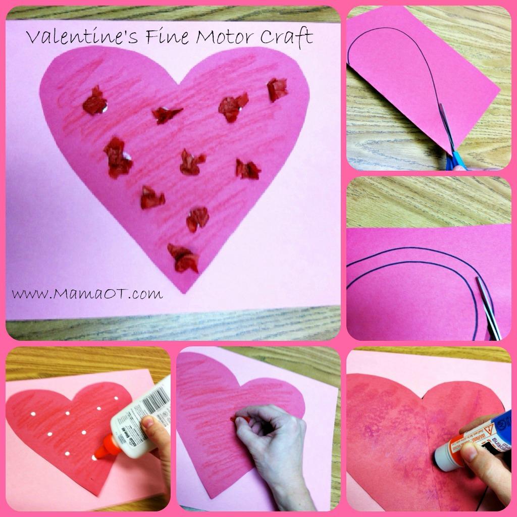 Valentine S Day Fine Motor Craft
