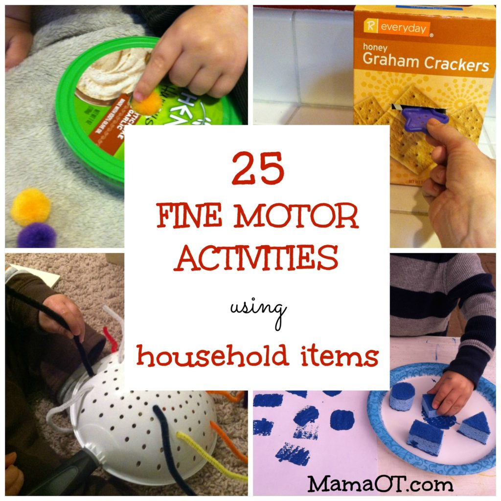 07 Fine Motor Activities Using Household Items Archives