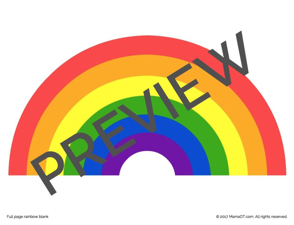 Rainbow Printables For Fine Motor Skills