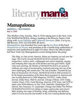 Literary Mama and Mamapalooza