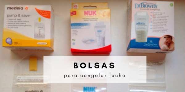 Comparando productos: bolsas para congelar leche materna