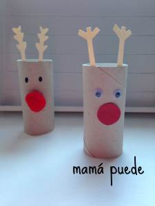 manualidades fáciles de navidad renos