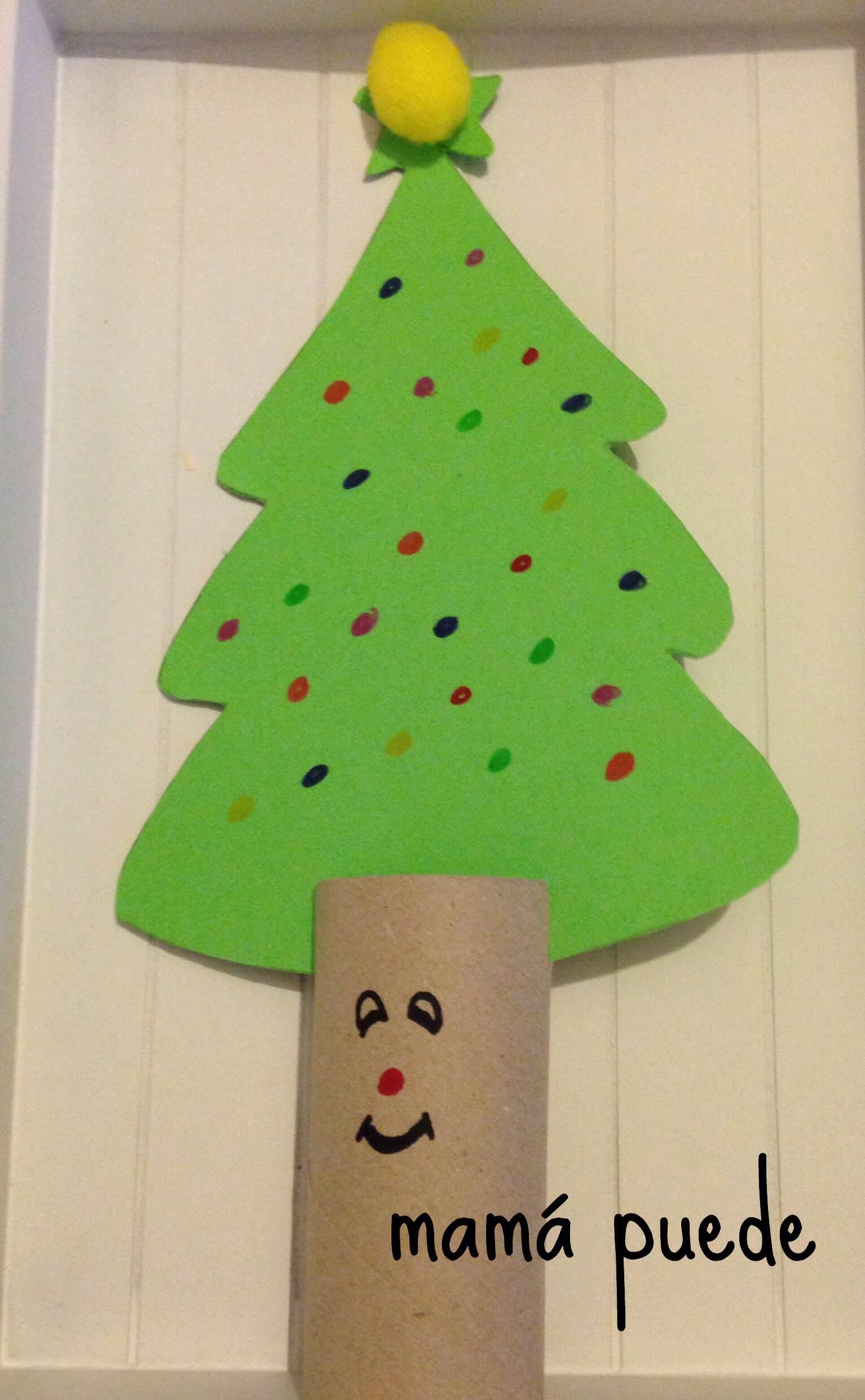 Manualidades f ciles de navidad mam puede - Manualidades navidad arbol ...