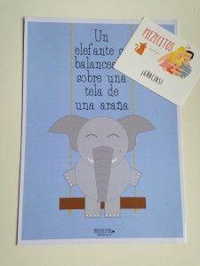 lámina piezecitos elefante