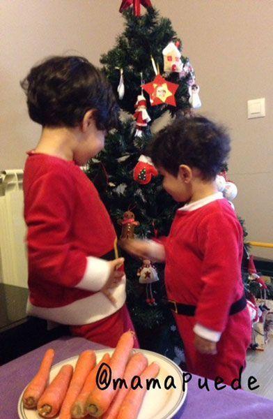 En Nochebuena los dos vestidos de Papá Noel