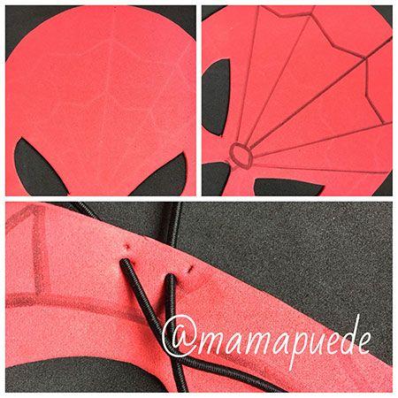 cómo hacer una máscara de spiderman DIY