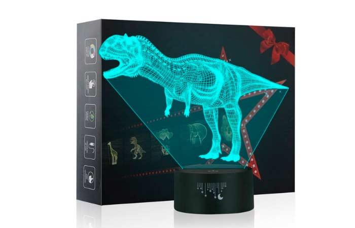 luz de noche de dinosaurios