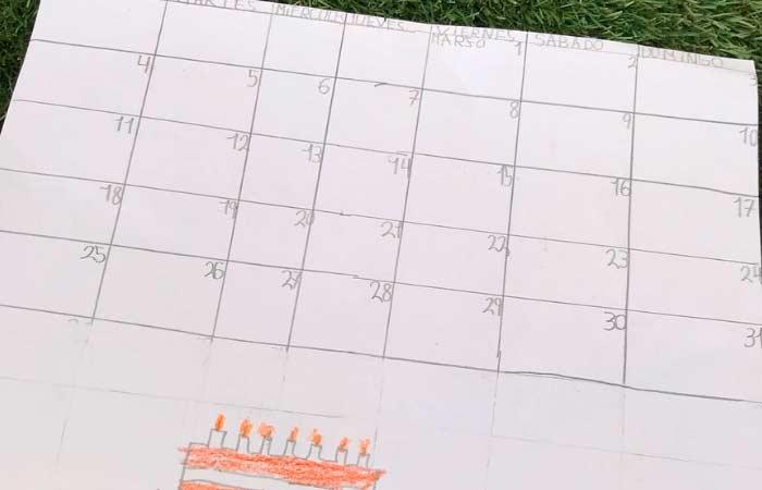 calendario para niños