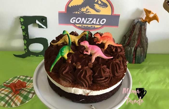 tarta de dinosaurios
