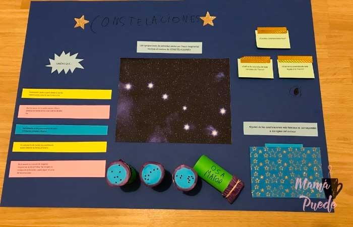 trabajo sobre las constelaciones para infantil