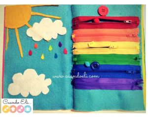 El Arcoíris de Cremallera: Página Quiet Book