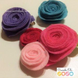 Flores de Fieltro para Tocado para niñas