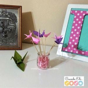 Bouquet de Grullas de Papel