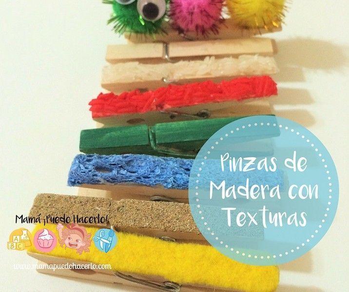 Pinzas de Madera con Texturas