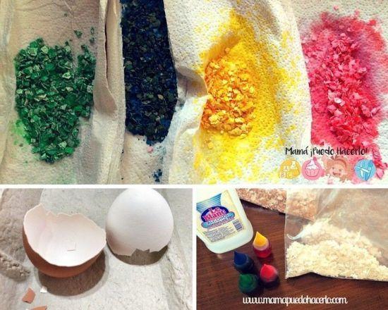 Mosaico Infantil con Cáscara de Huevo