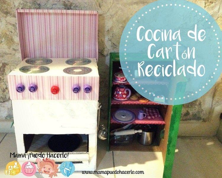 Cocina de cart n reciclado mam puedo hacerlo for Cocina de carton