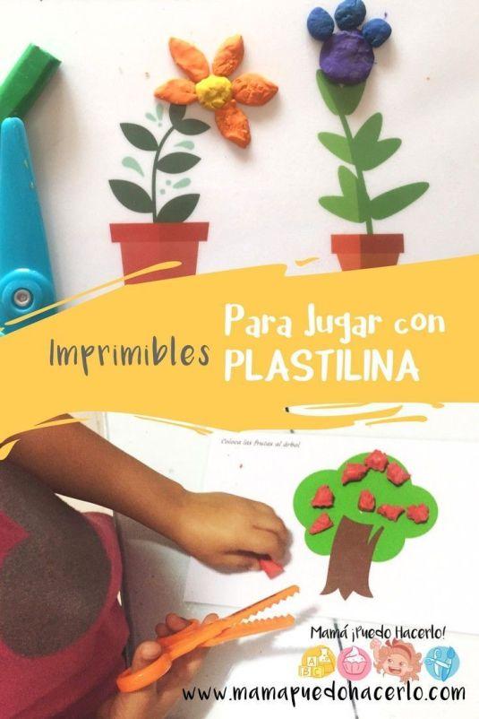 Imprimibles para jugar con plastilina