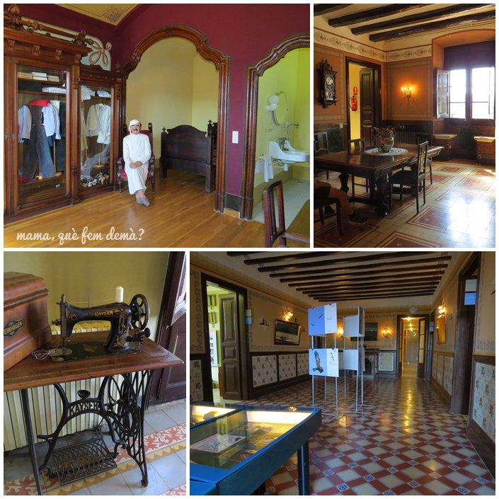 Comedor y habitaciones de la Masía de Can Coll en Cerdanyola del Vallès