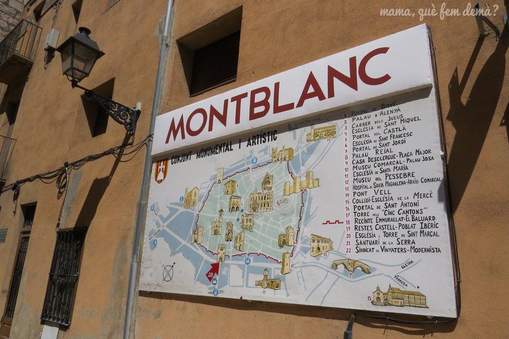 Mapa de Montblanc con todos los edificios