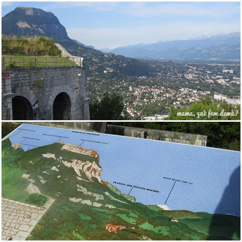 vistas desde la Fortaleza de La Bastilla, Mont Blanc