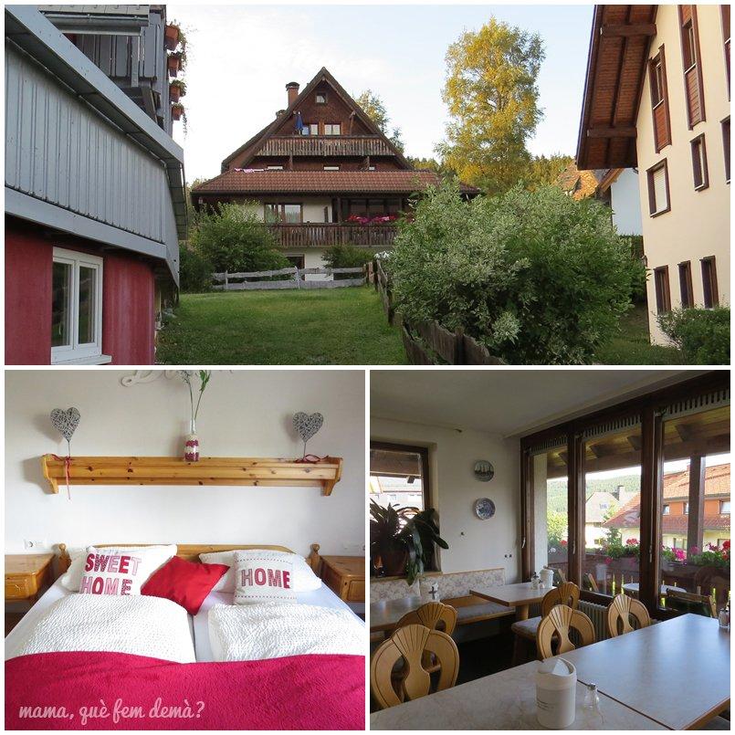 interior y exterior de la pensión Bergseeblick en Titisee