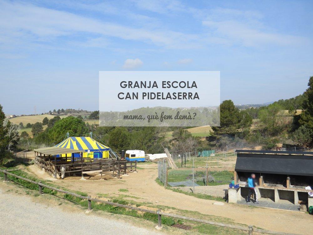 Circo, cuadras de los caballos y barbacoas de la granja Can Pidelaserra