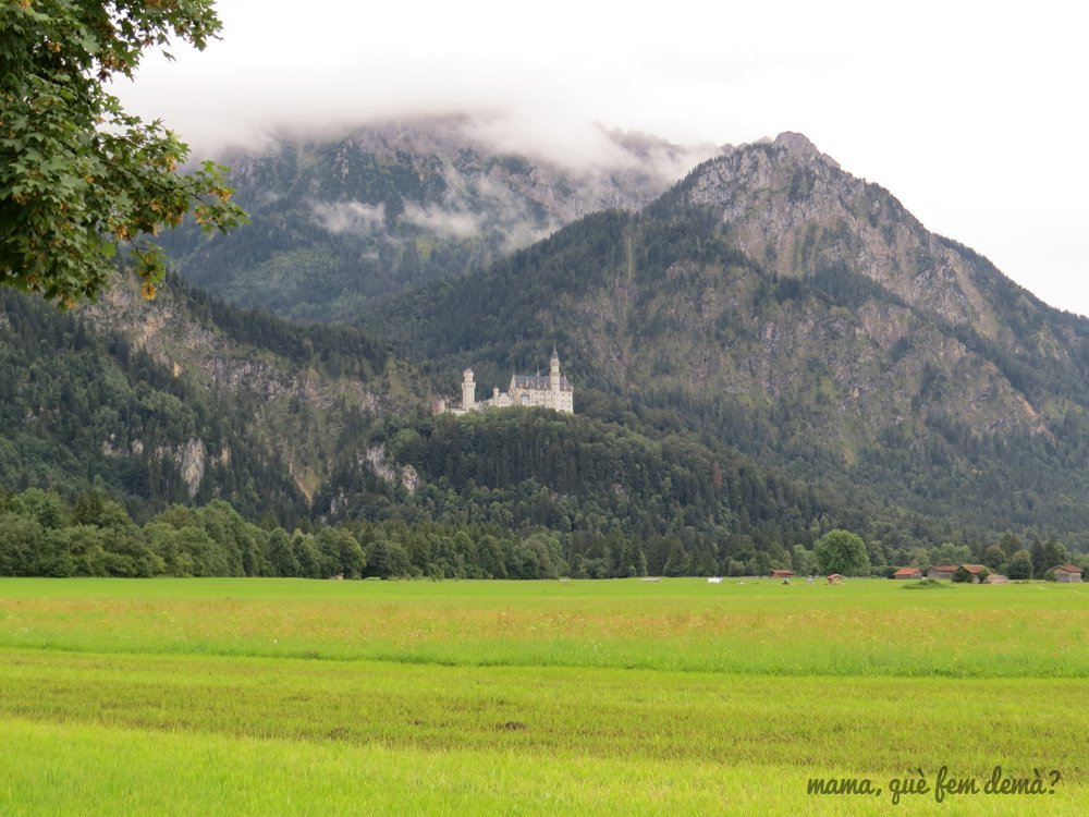 el castillo de neuschwanstein desde Tegelbergbahn