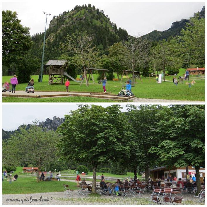 parque infantil y biergartem de tegelbergbahn