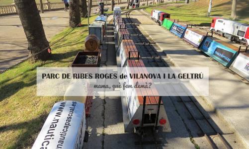 El tren en miniatura del Parc de Ribes Roges de Vilanova i la Geltrú