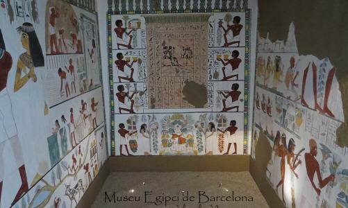El Museu Egipci de Barcelona con niños