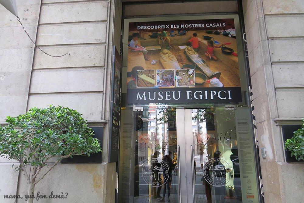 entrada del Museu Egipci de Barcelona