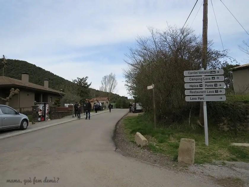 Inicio de la excursión al volcán Croscat
