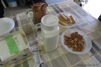 Degustación de la leche de la Granja Cal Rei.