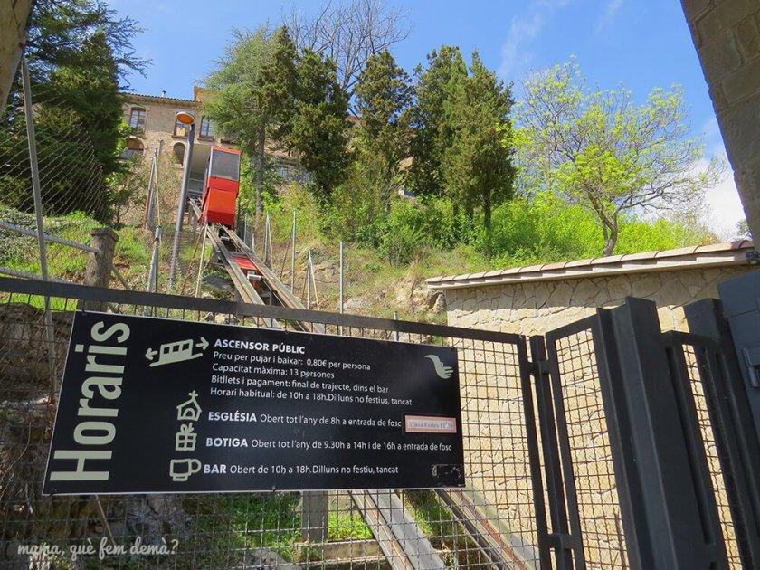 Funicular que sube hasta el Santuari de Queralt