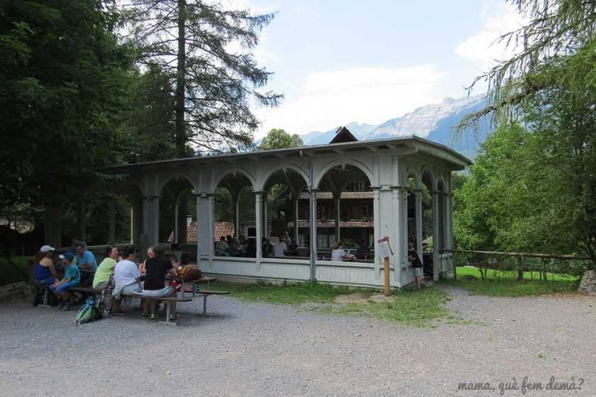 Zona de picnic en el Museo al aire libre Ballenberg