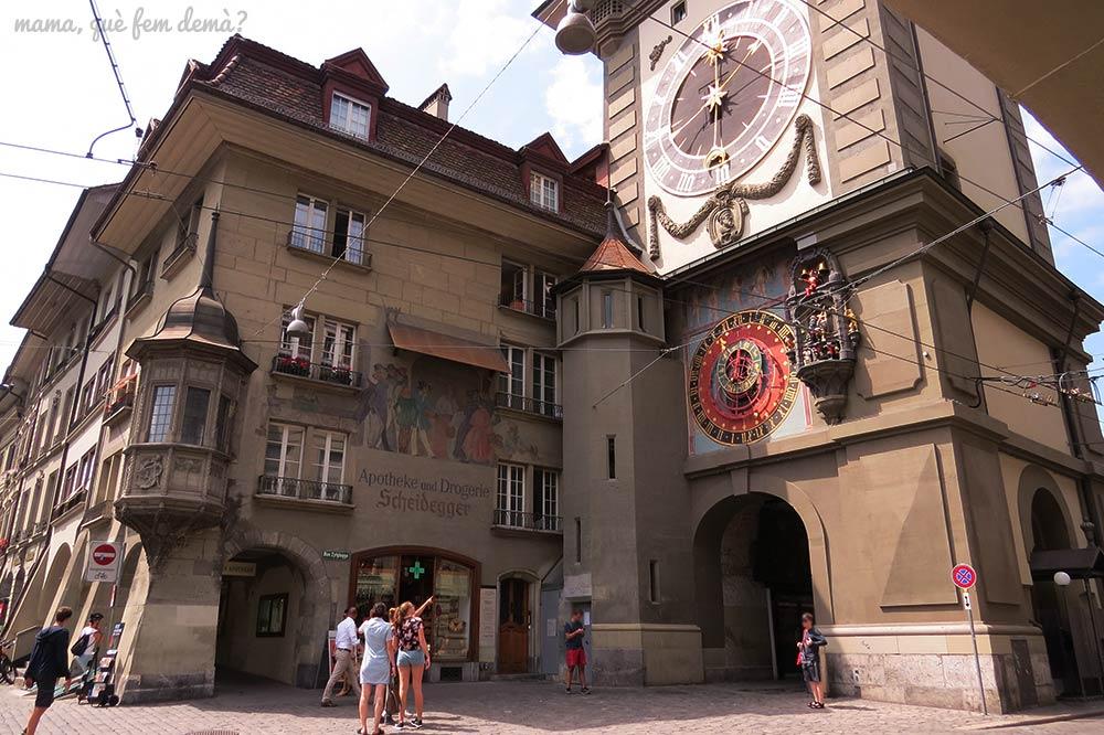 Zytgloggse, la torre del reloj astronómico de Berna