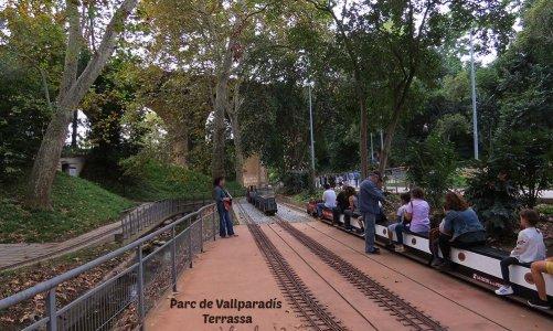Tren en miniatura del Parc de Vallparadís de Terrassa