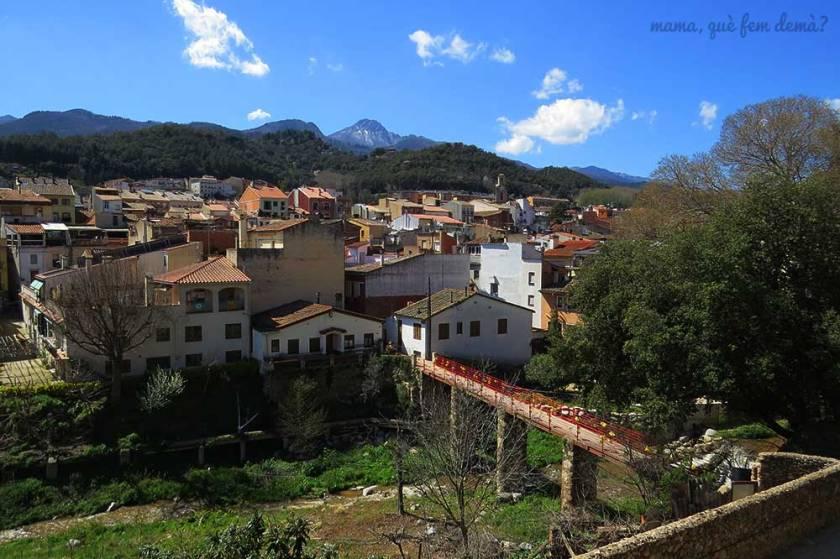 Pico de Les Agudes desde Arbúcies.