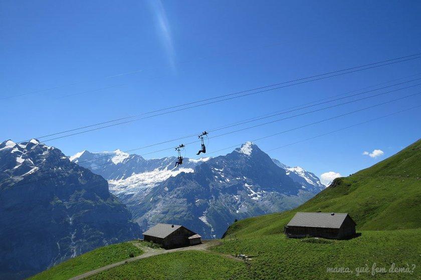 Fist Flieger en Grindelwald-First, Suiza