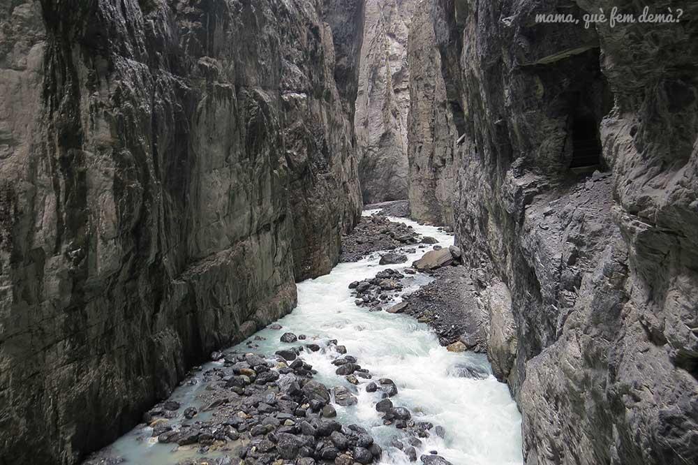 cañon glaciar en Grindelwald