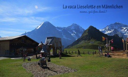 La vaca Lieselotte en Männlichen, Suiza