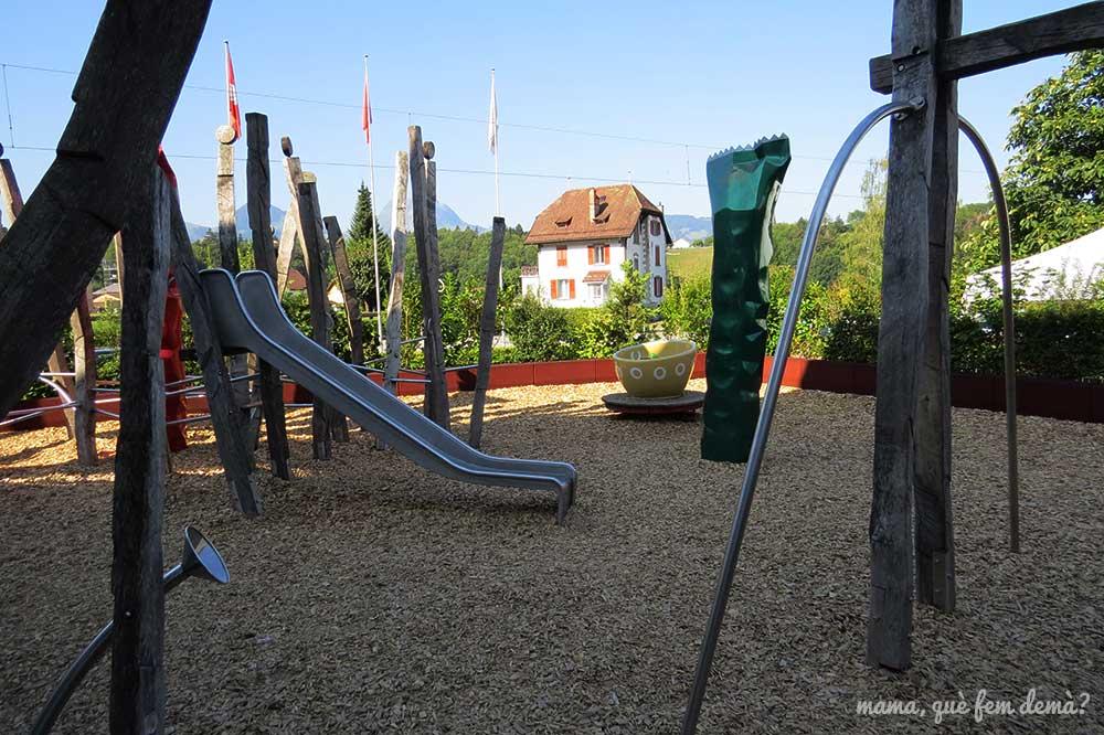 Parque infantil ambientado en el chocolate